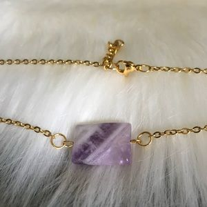 Amethyst Gold Plated Stainless Steel Choker